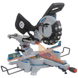 """New King 10"""" dual bevel sliding compound miter saw with twin laser 8385N"""