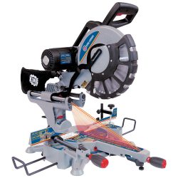 """New King 12"""" dual sliding compound miter saw with twin laser 8390N"""