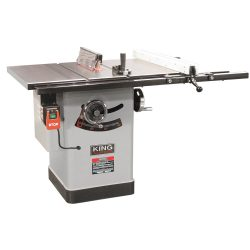 "New King 10"" cabinet saw with riving knife blade guard system KC-10JCS/J30"