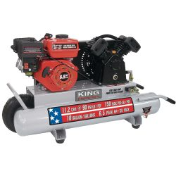New King 10 gallon gas Wheelbarrow Air Compressor KC-6510G1