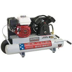 New King 10 gallon gas Wheelbarrow Air Compressor KC-5510G1