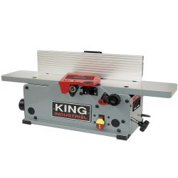 New King 6″ benchtop jointer with helical cutterhead KC-6HJC