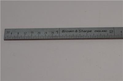 "599-333-1210 New Brown /& Sharpe 7//32/"" Narrow 12/"" Ruler UK 64ths Grad 32nds"